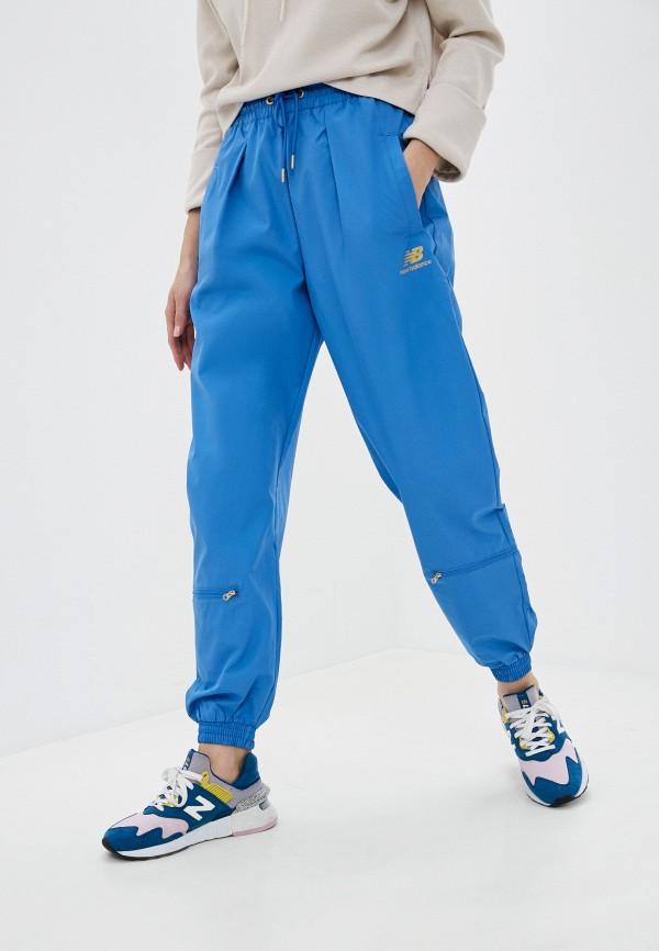 женские спортивные брюки new balance, синие