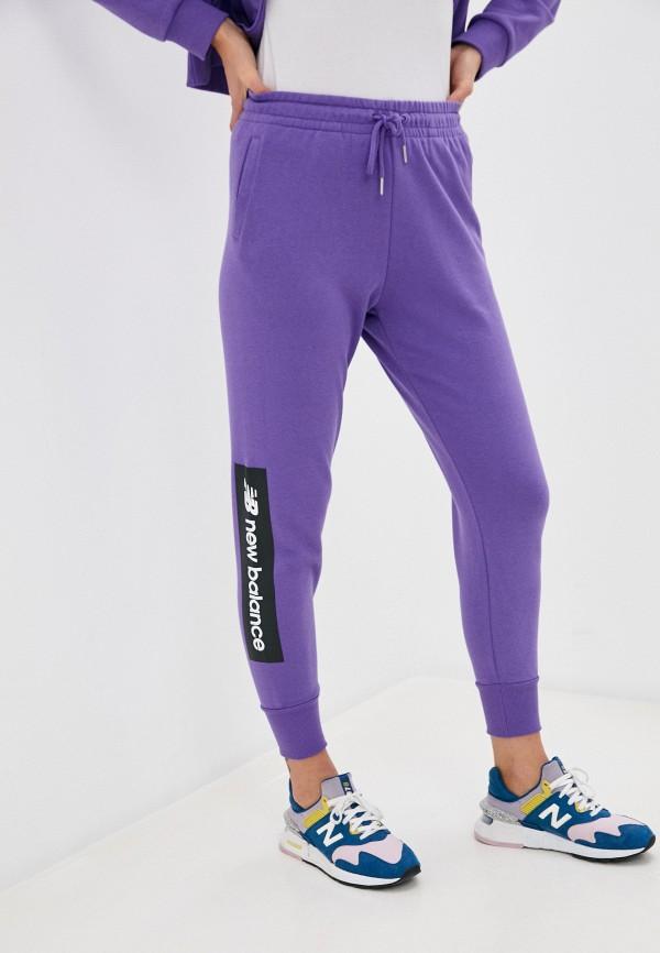 женские спортивные брюки new balance, фиолетовые