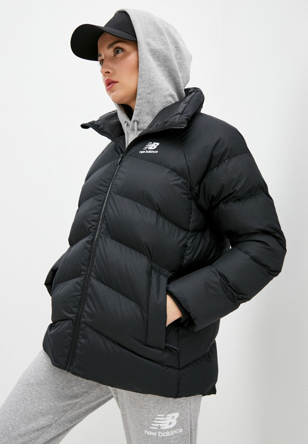 женская куртка new balance, черная
