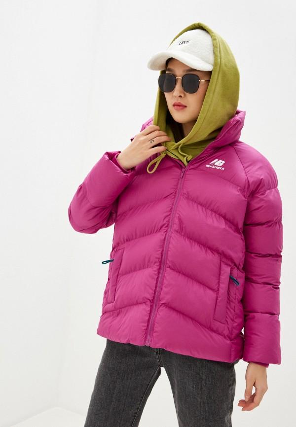 женская куртка new balance, розовая