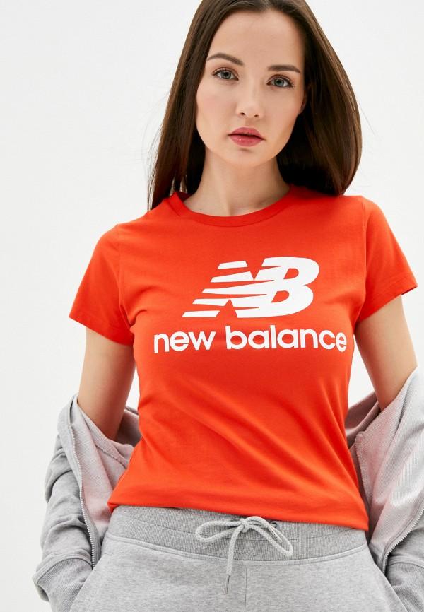 женская спортивные футболка new balance, красная