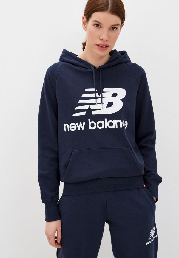 женские худи new balance, синие
