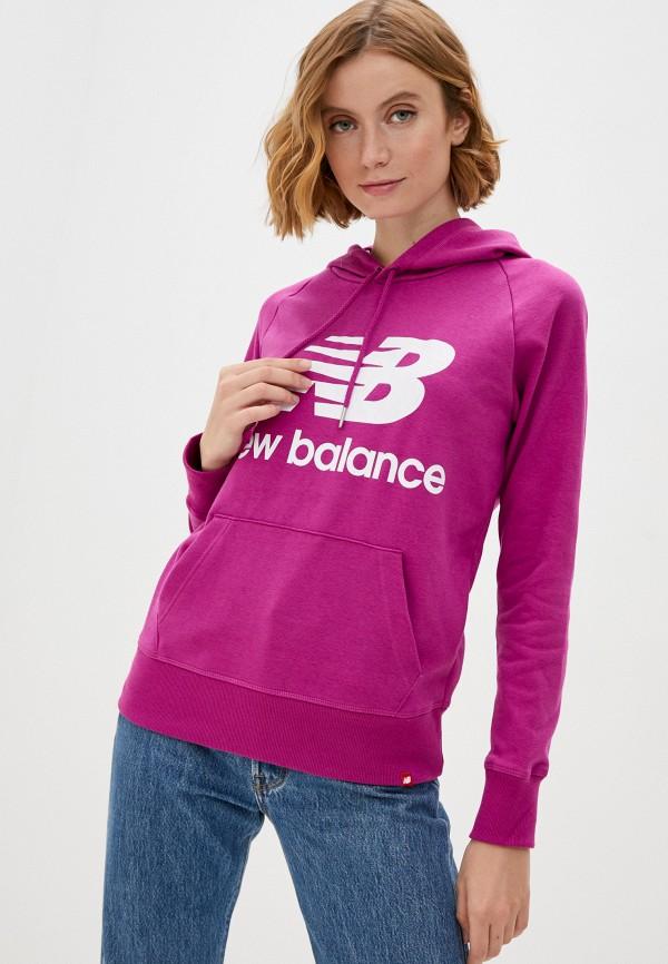 женские худи new balance, фиолетовые