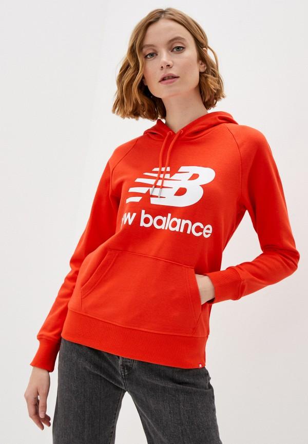 женские худи new balance, красные