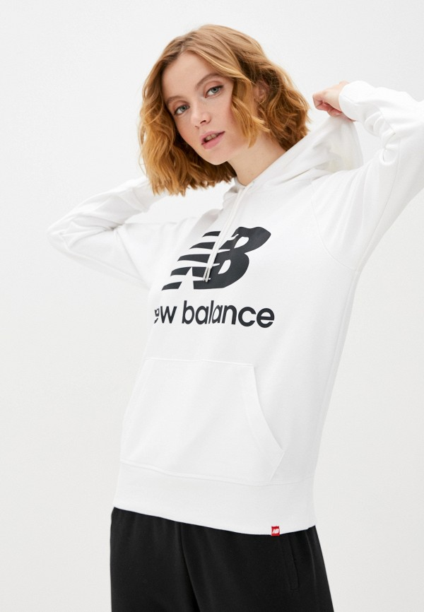 женские худи new balance, белые