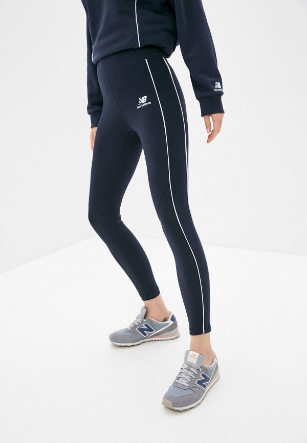 женские спортивные леггинсы new balance, синие