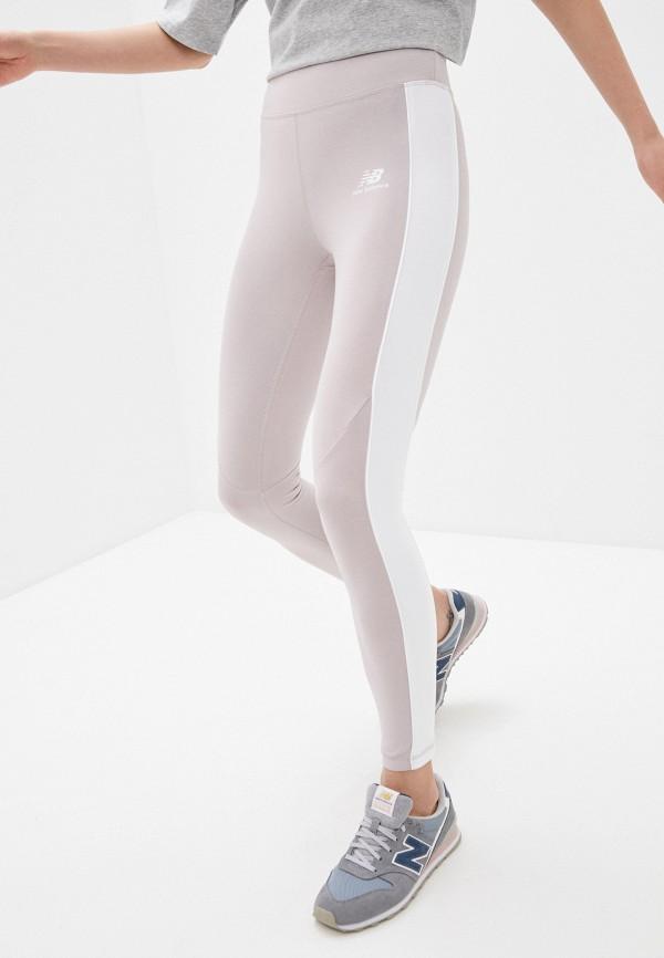 женские спортивные леггинсы new balance, бежевые
