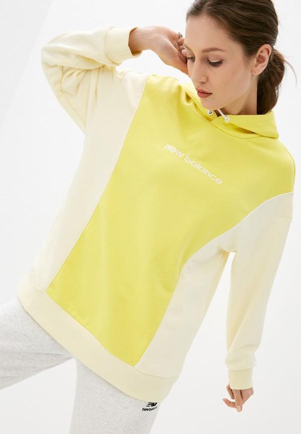 женские худи new balance, желтые