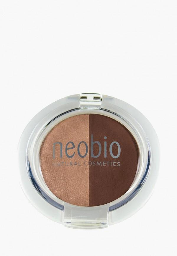 тени для век neobio, коричневый