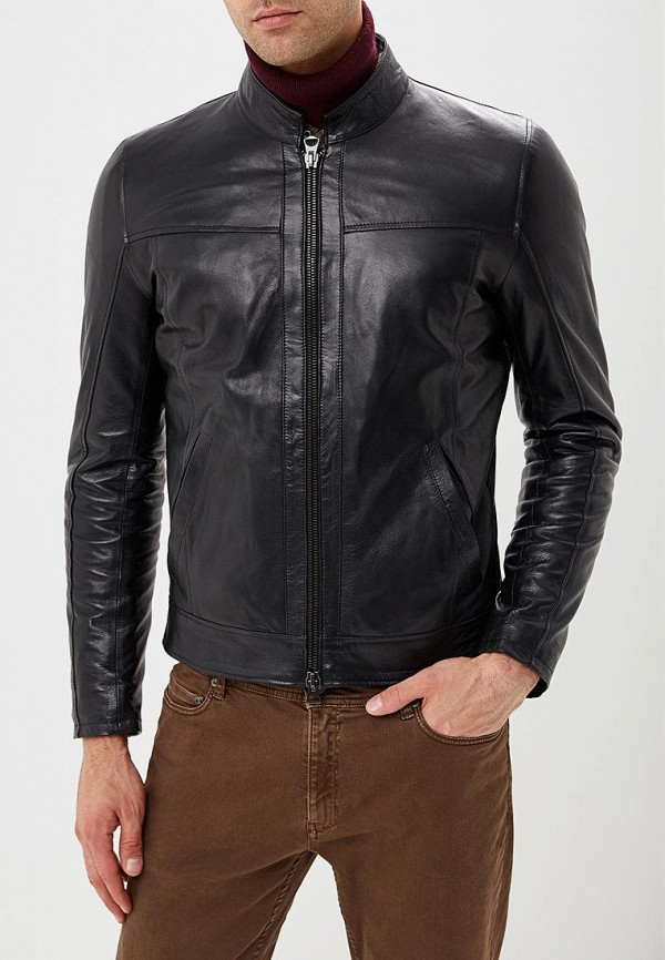 Купить Куртка кожаная Ne.Ra Collezioni, NE023EMCMKS0, черный, Осень-зима 2018/2019