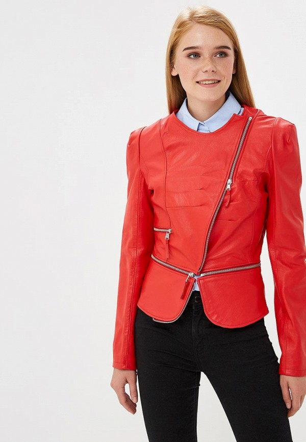 Купить Куртка кожаная Ne.Ra Collezioni, NE023EWCMKQ6, красный, Осень-зима 2018/2019