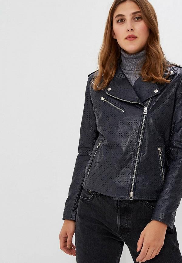 Купить Куртка кожаная Ne.Ra Collezioni, ne023ewcmkq8, синий, Осень-зима 2018/2019