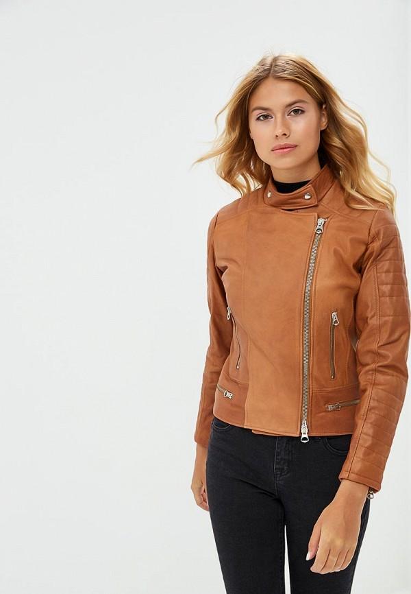 Купить Куртка кожаная Ne.Ra Collezioni, NE023EWCMKR5, коричневый, Осень-зима 2018/2019