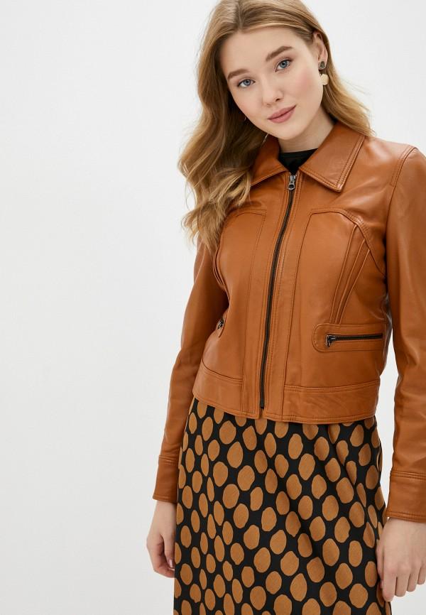 женская куртка ne.ra collezioni, коричневая