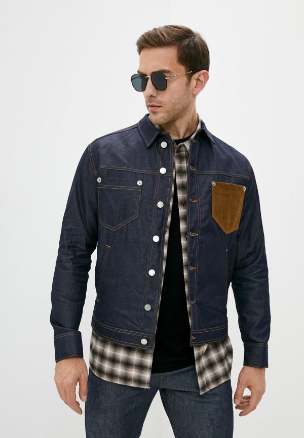 мужская джинсовые куртка neil barrett, синяя