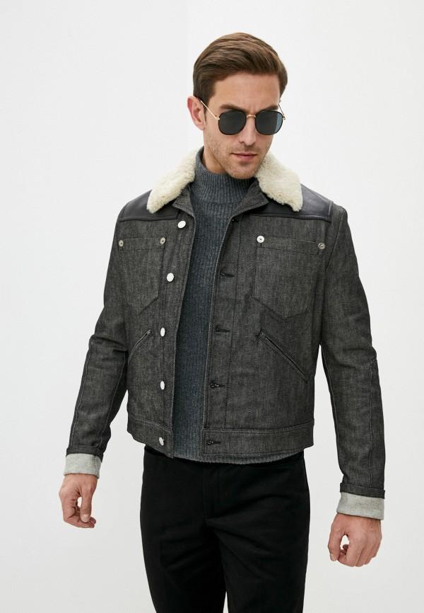 мужская джинсовые куртка neil barrett, черная