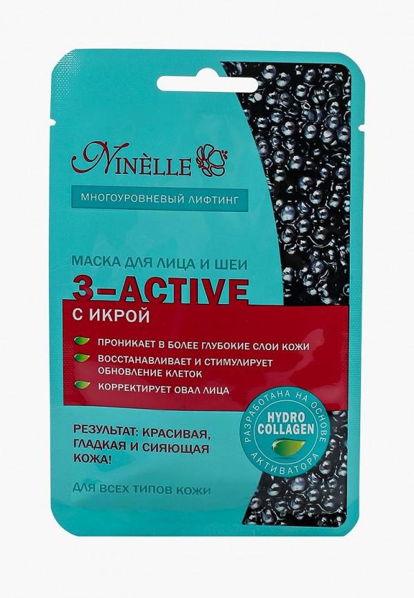 Купить Маска для лица Ninelle, и шеи 3-ACTIVE с икрой для всех типов кожи, NI025LWUWX38, Осень-зима 2018/2019