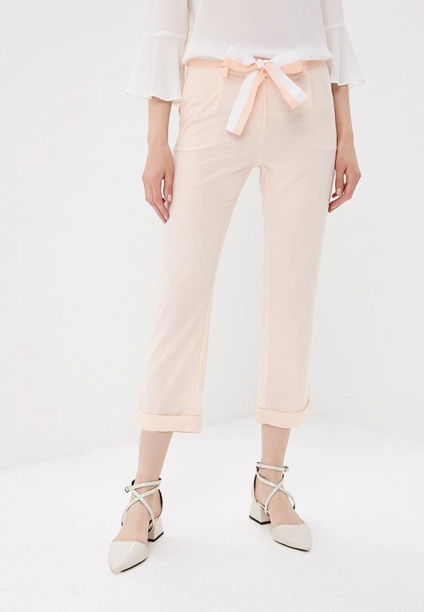 женские прямые брюки nice & chic, бежевые