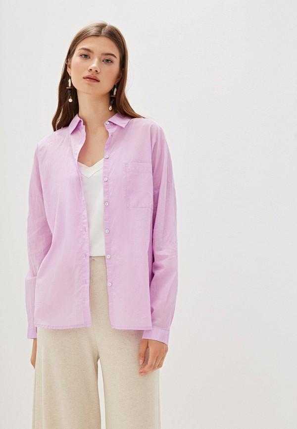 женская рубашка с длинным рукавом nice & chic, фиолетовая