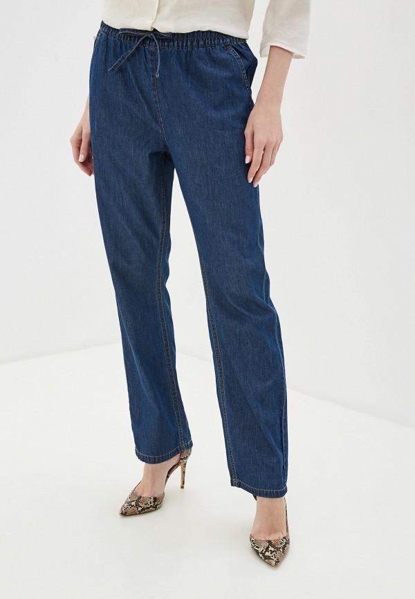 женские повседневные брюки nice & chic, синие