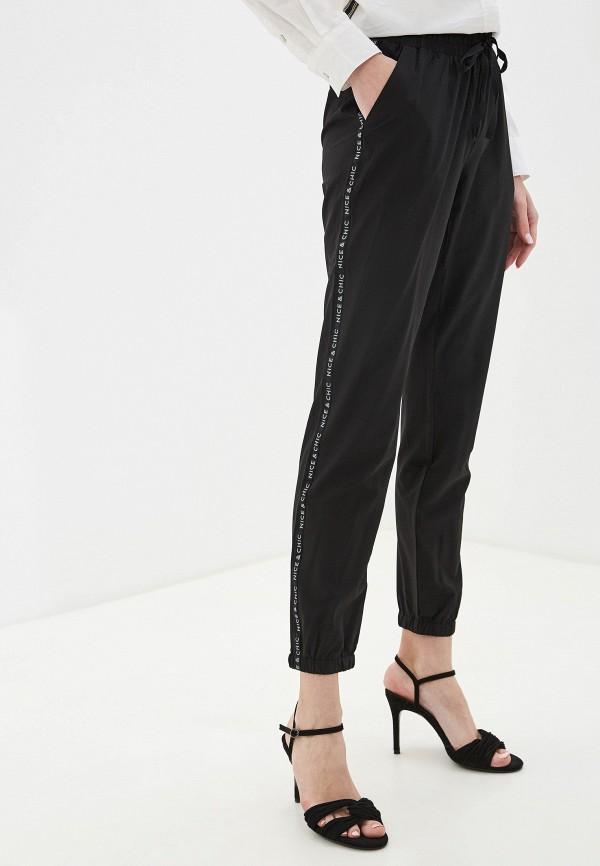 женские повседневные брюки nice & chic, черные