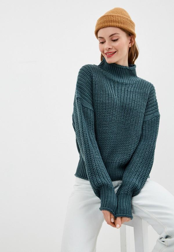женский свитер nice & chic, бирюзовый