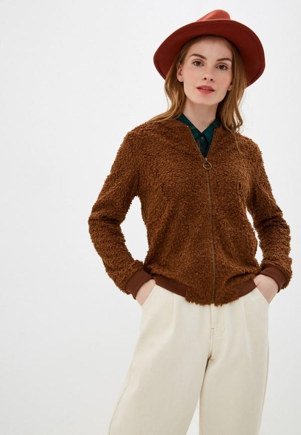 женский кардиган nice & chic, коричневый