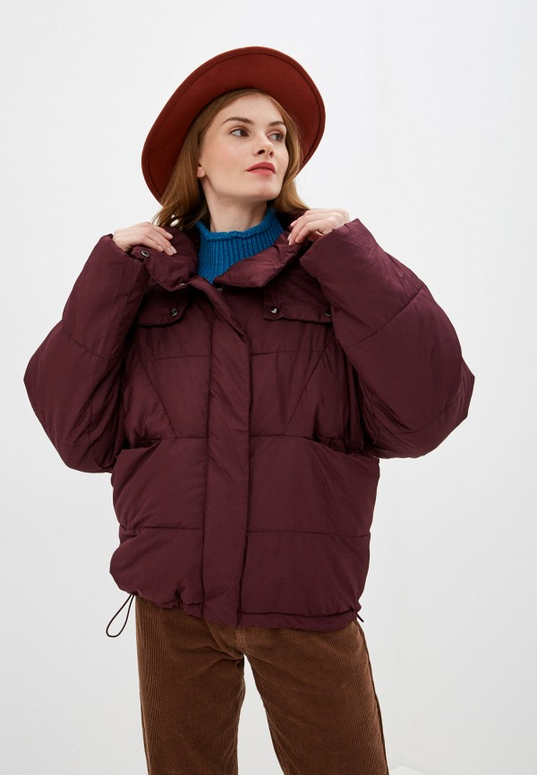 женская куртка nice & chic, бордовая