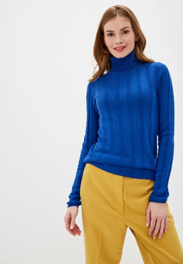 женская водолазка nice & chic, синяя