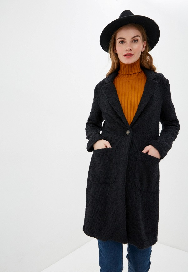 женское пальто nice & chic, черное