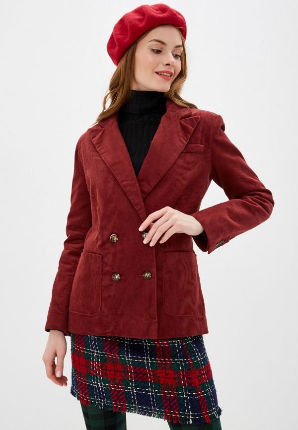 женский пиджак nice & chic, бордовый