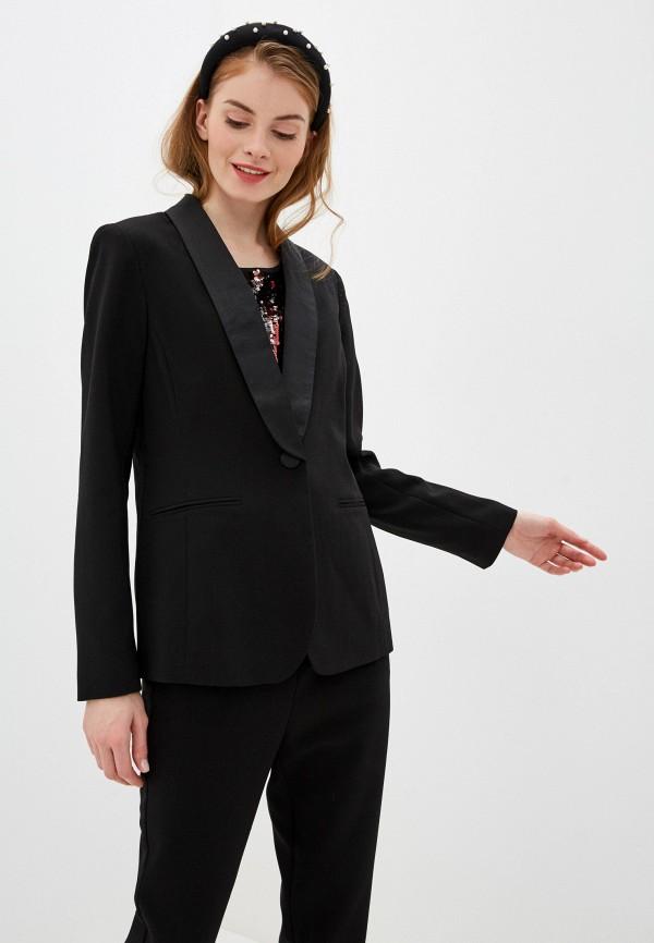 женский пиджак nice & chic, черный