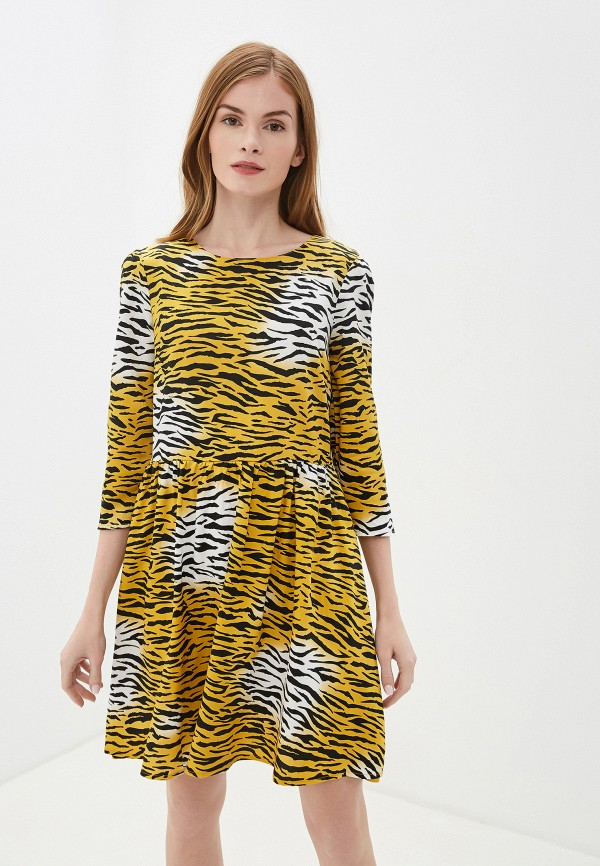 женское повседневные платье nice & chic, желтое