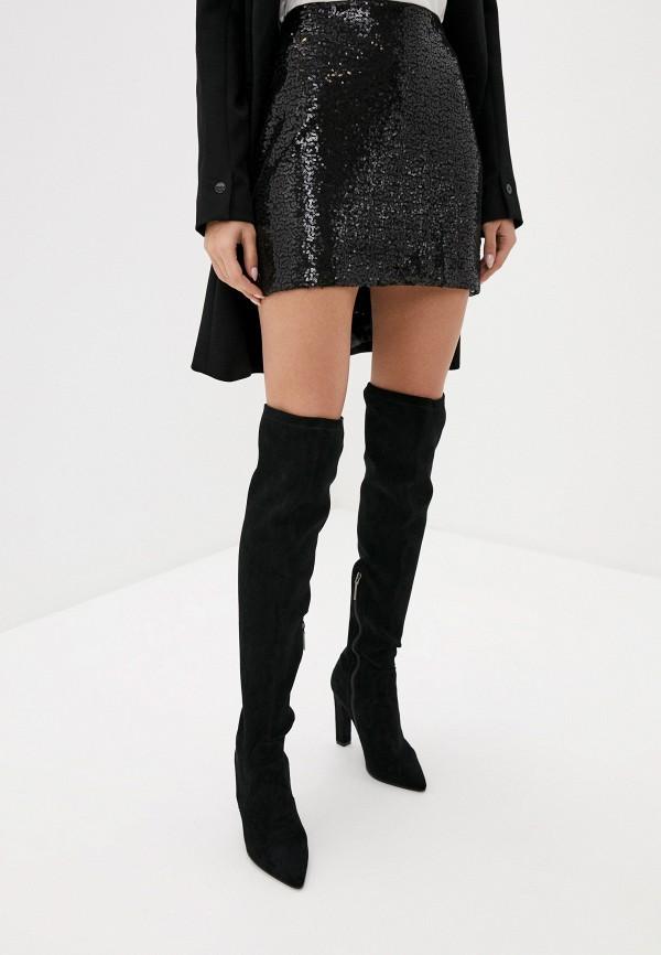 женская прямые юбка nice & chic, черная
