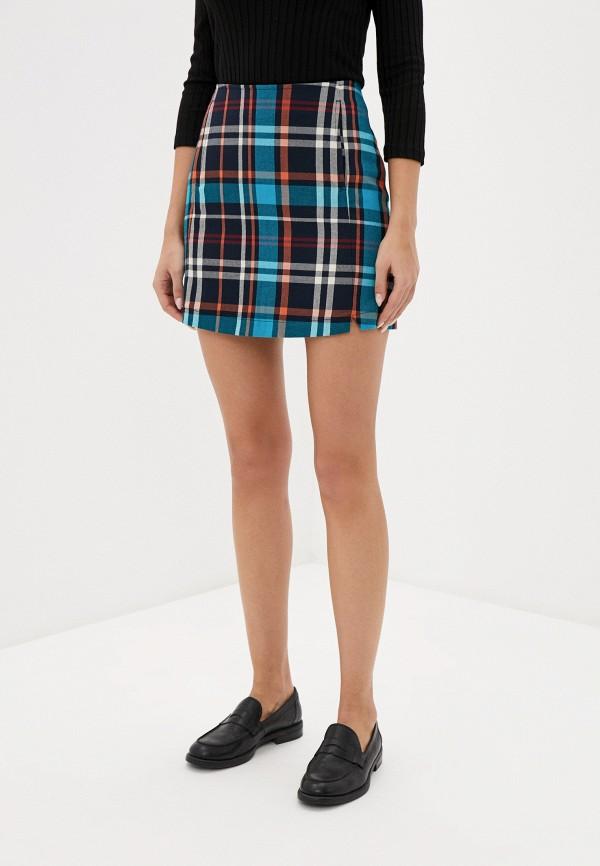 женская прямые юбка nice & chic, разноцветная