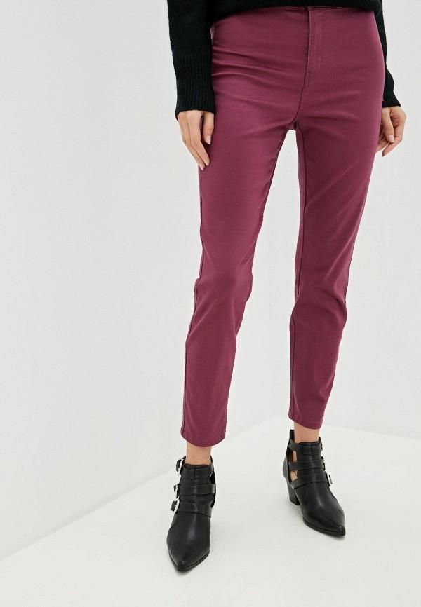 женские повседневные брюки nice & chic, бордовые