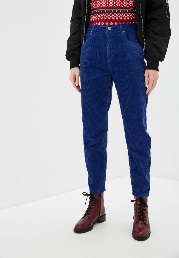 женские прямые брюки nice & chic, синие