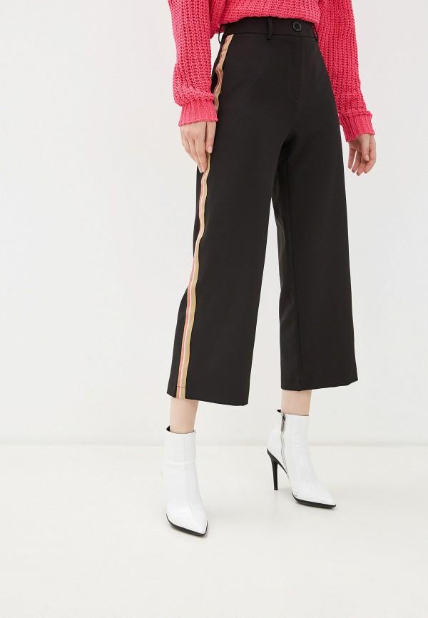 женские прямые брюки nice & chic, черные