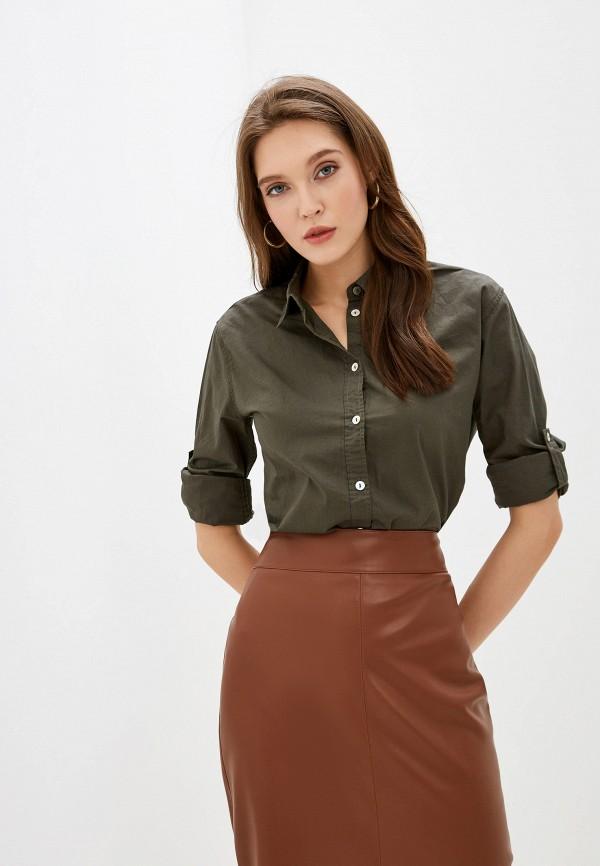 женская рубашка с длинным рукавом nice & chic, зеленая