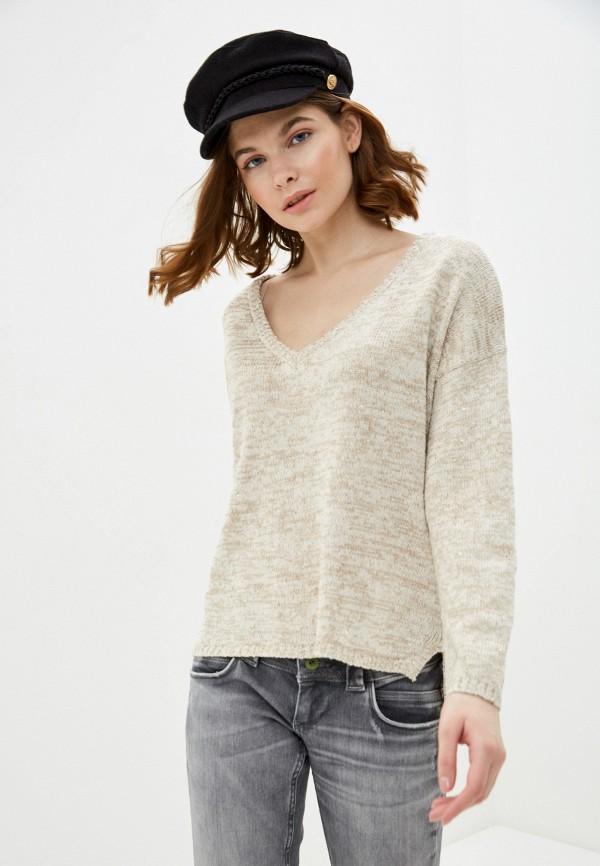 женский пуловер nice & chic, бежевый