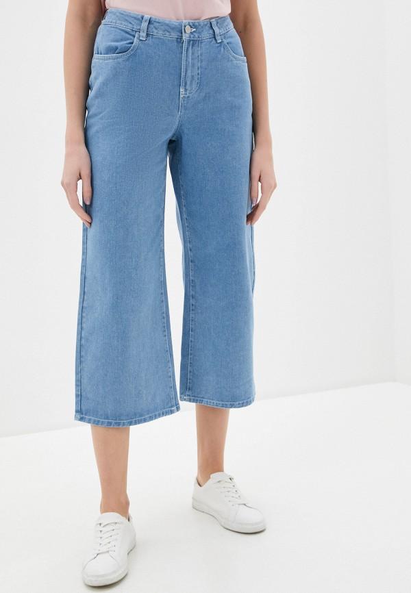 женские джинсы клеш nice & chic, голубые