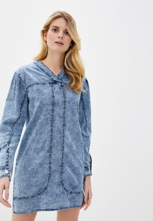 женское джинсовые платье nice & chic, синее
