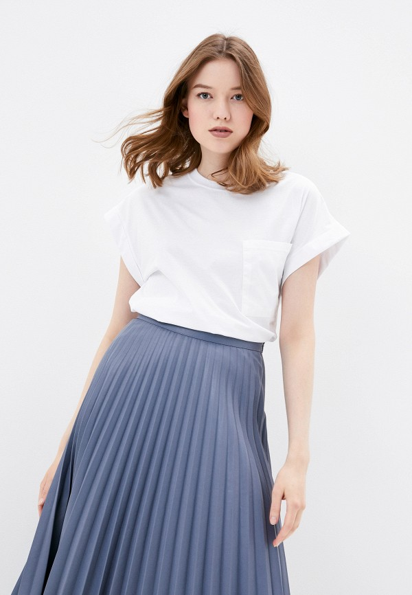 женская футболка nice & chic, белая
