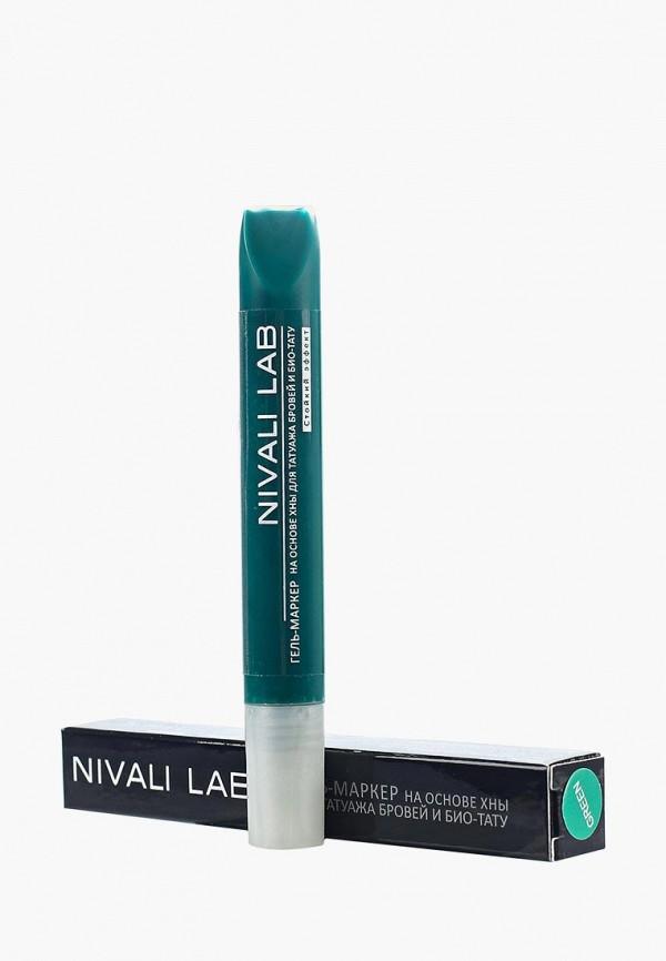 гель для бровей nivali, зеленый