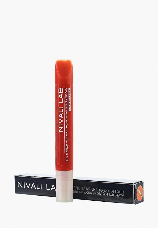 гель для бровей nivali, оранжевый