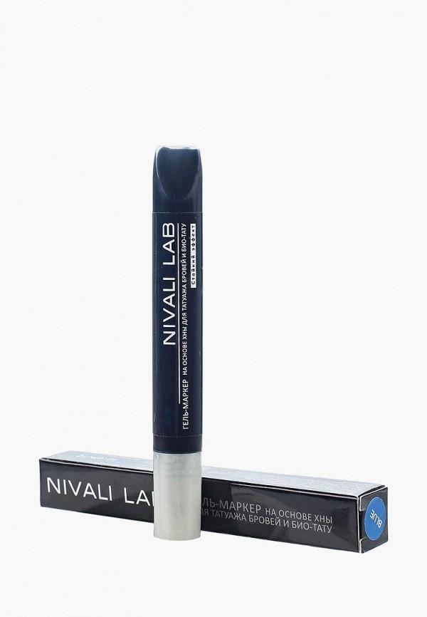 гель для бровей nivali, синий