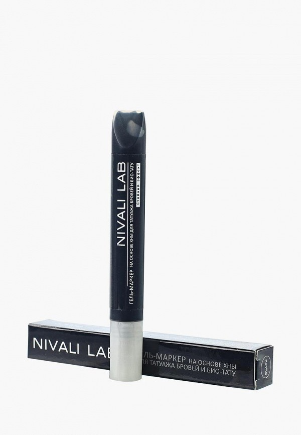 гель для бровей nivali, черный