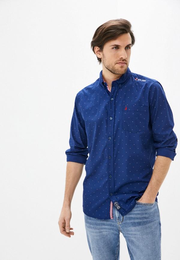 мужская рубашка с длинным рукавом nisko, синяя