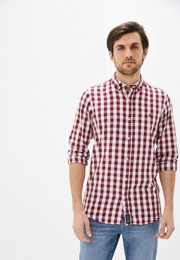 мужская рубашка с длинным рукавом nisko, красная