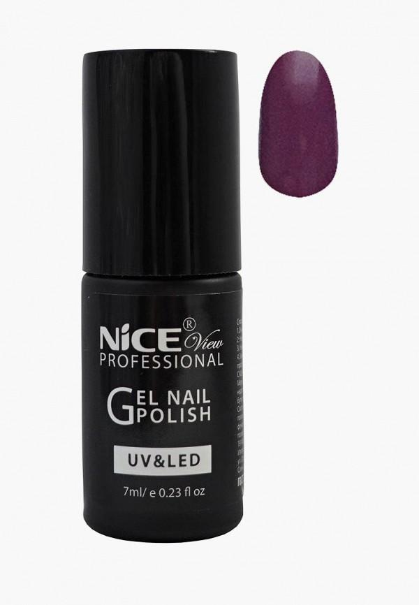 женский лак для ногтей nice view, фиолетовый